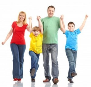 7872732-happy-family-father-mother-and-children-isolated-over-white-background